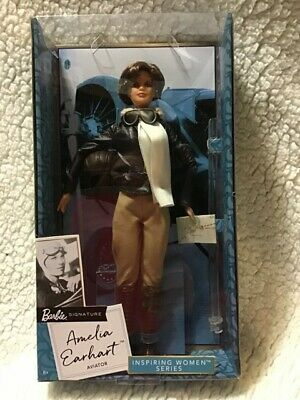 Amelia Earhart Barbie Inspiring Women Series - Aviator~New  Box Damage