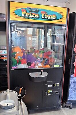 Prize Time Crane Claw Machine Coin Operated Vending Great Condition