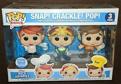 Funko Pop Ad Icons Snap! Crackle! Pop! Rice Krispies Funko Shop Limited Edition