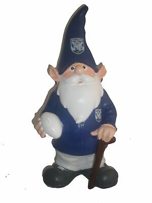 Canterbury Bulldogs NRL Trackie Wearing Garden Gnome With Walking Cane