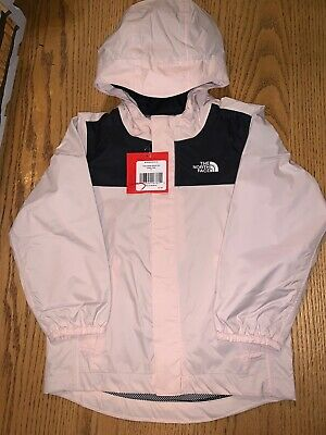 Nwt The North Face Toddler Girl's Quinn Rainshell Jacket Size 4T Purdy Pink $55