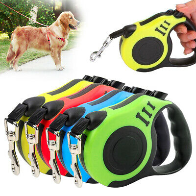 Retractable Dog Walk Lead Extending Leash Tape For Small Medium Dogs Cats Pet DD