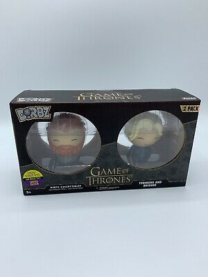 Game of Thrones FUNKO Dorbz TORMUND & BRIENNE 2 Pack SDCC Shared Exclusive HBO
