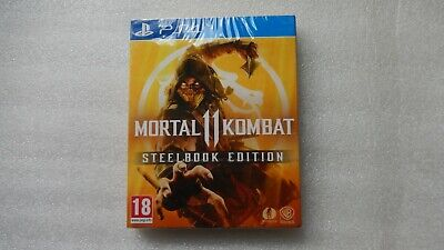 Mortal Kombat 11 PS4 Steelbook Special Edition with DLC PlayStation 4 Brand New