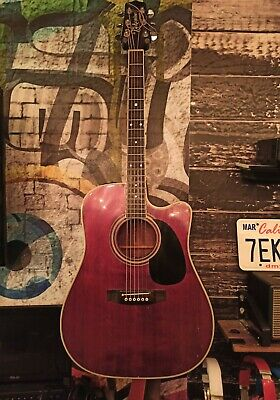 Uber RARE 1980s Takamine EF-325SRC Acoustic Electric Guitar w/ hard shell case!
