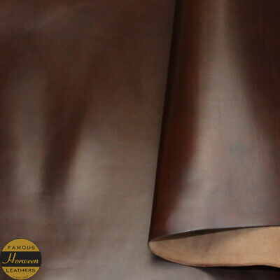 Horween Chromexcel Leather Veg Re Tan Brown Panels 2.0-2.2 mm Thick Firm Feel.