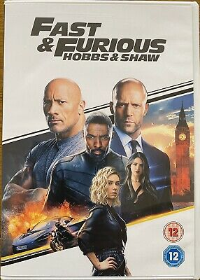 Fast & Furious Presents Hobbs & Shaw DVDnew As New Watched Once