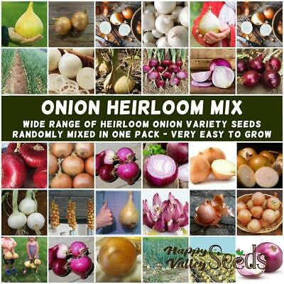 ONION Heirloom Mix 100 Seeds Winter Vegetable Garden ALL TYPES MIXED cool season