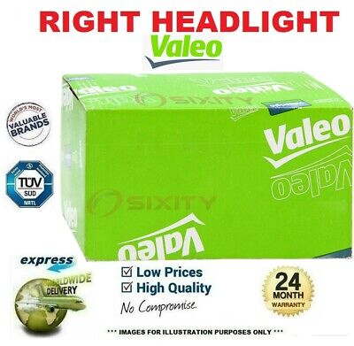 VALEO Right HEADLIGHT for OPEL AGILA 1.2 2008->on