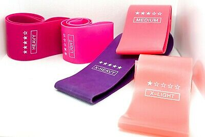 Resistance Loop Bands Fitness Yoga Exercise Workout Pilates - Sets & Individual
