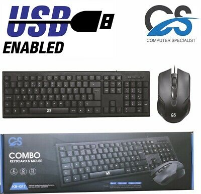 NEW USB 2.0 Wired Stylish Slim QWERTY Keyboard UK Layout For PC Computer Laptop