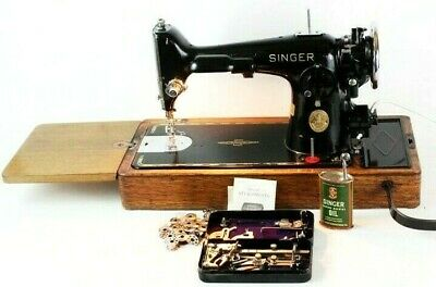 Vintage Singer 201k Heavy Duty Semi Industrial Electric Sewing Machine  [5954]