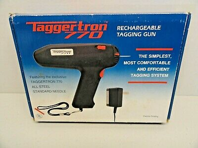 Taggertron 770 Rechargeable Electric Tagging Gun w/ Steel Needle