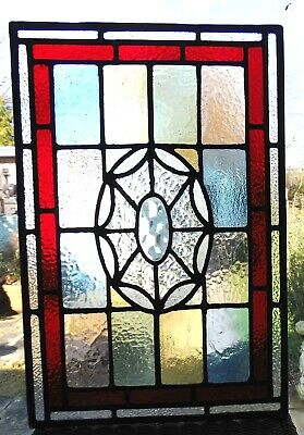 Newly Created Stained Glass Panel Using An Original Centrepiece - Ref Sg429