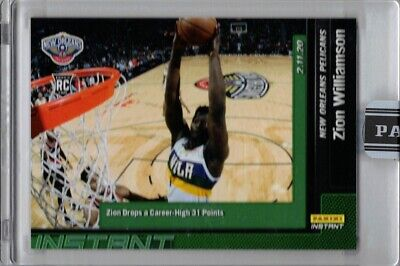 2019-20 Panini Instant NBA Green #87 Zion Williamson Rookie Card RC - 6 of 10