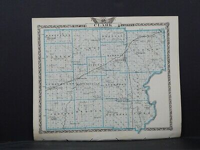 Map of Clark County/Edgar County (Reversible), Illinois, L26 #129