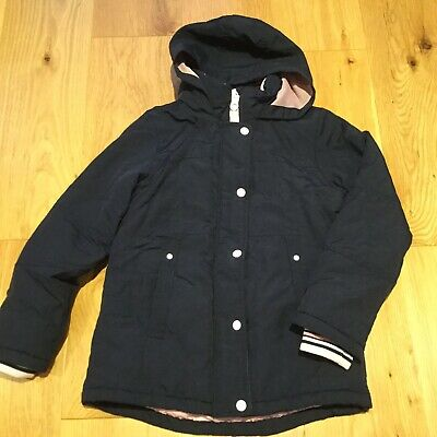 Next Girls Navy & Pink Coat Age 10 Years Excellent Condition