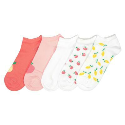 Girls Pack Of 5 Pairs Of Cotton Mix Trainer Socks 350177116
