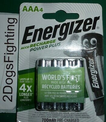ENERGIZER POWER PLUS AAA 700 Rechargeable Batteries 4 pack Sealed New 700mAh