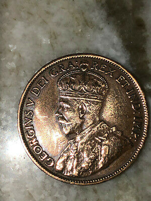 One Cent 1914 Canada  King George V High Grade Ms-+  Cleaned ? Value Added