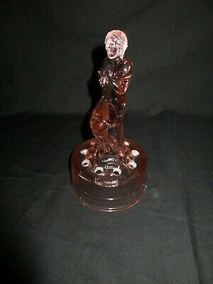 Art Deco Glass Semi Draped Nude figure ,Flower Frog Holder,very nice condition