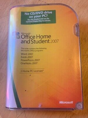 Microsoft Office Home and Student 2007 *NO DISC* PRODUCT KEY ONLY*