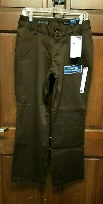 Lee Modern Series Brown Pants Trousers Curvy Fit Stretch Women's 12 Short NWT