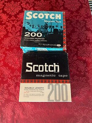 "LOT of 9 Vintage Scotch 200 7"" Reel To Reel Recording Tapes 2400 FT. Audio Tape"