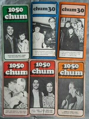 Chum Charts AM 1050 Radio, 54 charts From 1970, 71,72,74