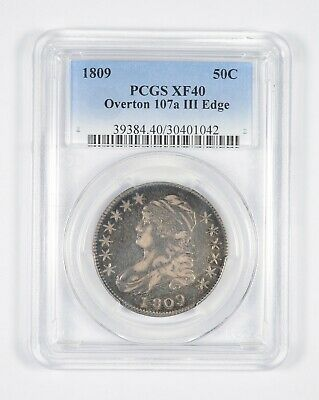 XF40 1809 Capped Bust Half Dollar - Overton 107a III Edge - Graded PCGS *8544
