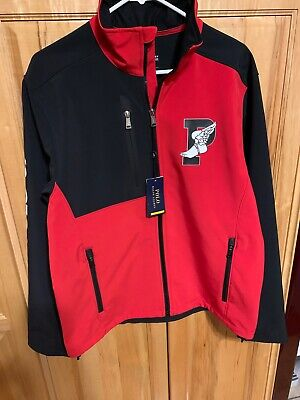 Men's Polo Ralph Lauren Performance Injection Red Black P-Wing Full Zip Jacket