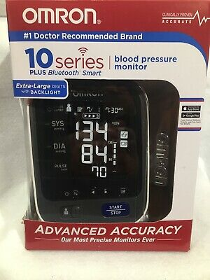 Omron 10 Series Bluetooth Blood Pressure Monitor Extra-large Digits BP786 Read D