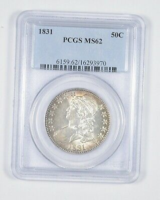 MS62 1831 Capped Bust Half Dollar - Graded PCGS *8597