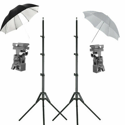 Photography Speedlite Flash Umbrella Lighting Light Stand with Bracket Kit
