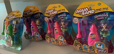 Aqua Sand Sets 4 NEW Packs of Aqua Sand great for gifts or party hand outs