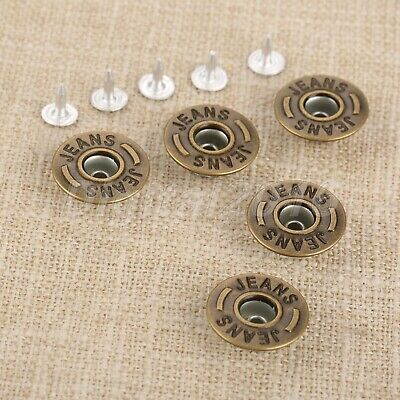 9mm 100pcs Angle nail Pattern Jeans Buttons 100pcs Nails Bronze//Black for Boots