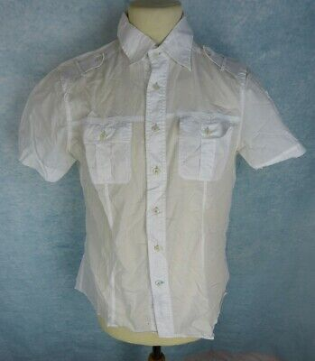 GUESS MARCIANO Chemise Homme Taille L - Manches courtes - Blanche