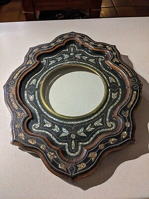 ANTIQUE ORNATE  Mother of pearl FRENCH Oeil de Boeuf CLOCK SURROUND FRAME SPARES