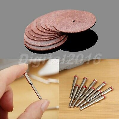 10Pcs 38mm Grinding Cutting Disc Wheels Slitting Discs Cut off & 3.175mm Mandrel