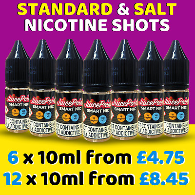 Nicotine Shots & Salt Nic Shots | 18mg 100VG, 80VG, 70VG | MAX VG | UK Made TPD