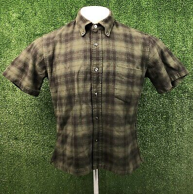 Pendleton Country Traditionals Pure Wool Plaid Button Down Shirt Size Youth M