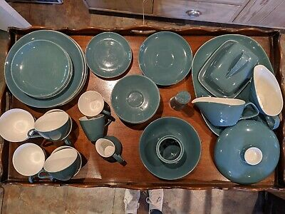 Poole Pottery blue moon dinner service items