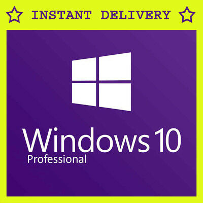 Windows 10 Professional Retail 32/ 64bit Genuine License Key - Upgrade to Pro