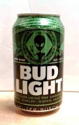 Bud Light Beer Alien Can created For Alienstock Area 51 Rachel  Empty Limited SO