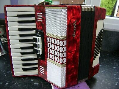 German 48 Bass Accordion Lightweight Model Free Uk Courier