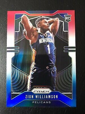 2019-20 Panini Prizm Zion Williamson Red White & Blue Rookie Card - READ DISC