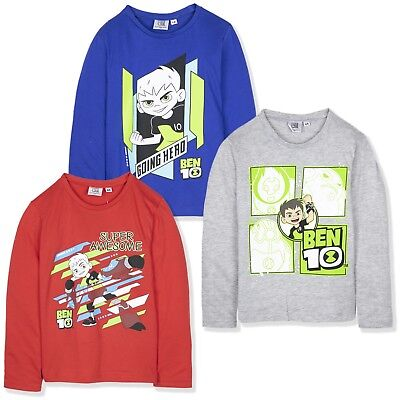 Angry Birds Long Sleeve T-Shirt Con nuova licenza Avengers Cotone Età 4 A 14 ANNI