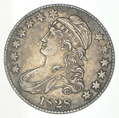 1828 Capped Bust Half Dollar - Square Base 2 - Small 8s - Large Letters *6187