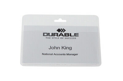 Durable DB90924 Transparent 90 mm 60 mm 50 pc(s) Visitors Badge 999108008