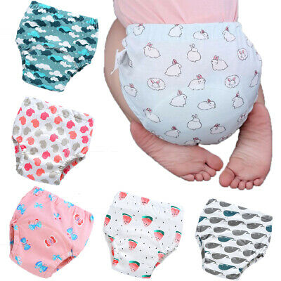 Newborn Cotton Underwear Training Pants Baby Nappies Reusable Baby Diaper